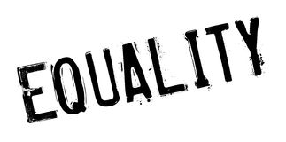 Equality rubber stamp Stock Image