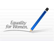Equality for women message illustration design Royalty Free Stock Photography