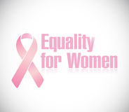 Equality for women pink ribbon illustration design Stock Photo
