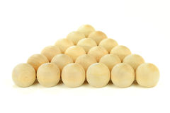 Equality. Wooden equal balls with natural texture. Royalty Free Stock Images
