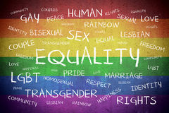 Equality Word Cloud Background Concept Royalty Free Stock Photo