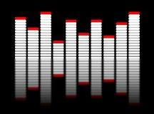 equalizador 3d no preto Imagem de Stock Royalty Free