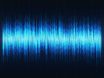 Equalizador abstracto de las ondas acústicas ilustración del vector