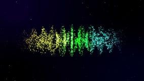 Equalizador abstrato animado com barras moventes e efeito do bokeh video estoque