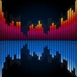Equalizador abstrato da música Fotos de Stock