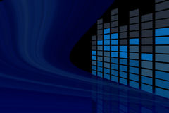 Equalizador abstrato da música na opinião de perspectiva Imagens de Stock