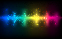 Equalizador audio abstrato da onda sadia Molde de incandescência escuro colorido do conceito sadio da música Imagem de Stock Royalty Free
