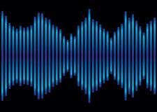 Equalizador azul da música Foto de Stock