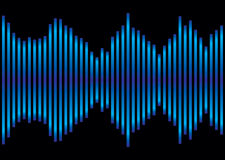 Equalizador azul de la música Foto de archivo