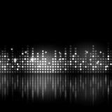 Equalizador blanco y negro de la música Imágenes de archivo libres de regalías