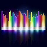 Equalizador coloreado de los lápices Imagen de archivo libre de regalías
