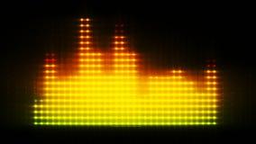 Equalizador colorido, linhas 3d animados video estoque