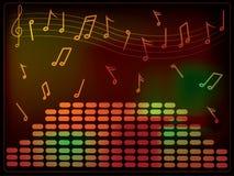 Equalizador da música ilustração stock