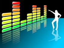 Equalizador da música ilustração royalty free