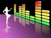 Equalizador da música Foto de Stock Royalty Free