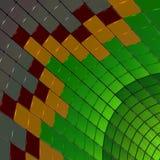 Equalizador da música da cor, formas de onda sadias abstraia o fundo ilustração 3D ilustração do vetor