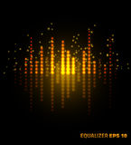 Equalizador da música Ilustração do vetor Imagem de Stock Royalty Free