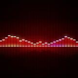 Equalizador da música Foto de Stock
