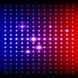 Equalizador de brilho do vermelho, o azul e o roxo do disco ilustração do vetor