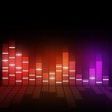 Equalizador de Digitaces de la música Imagen de archivo libre de regalías