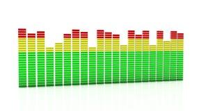 Equalizador de Digitas em 3d Imagem de Stock Royalty Free