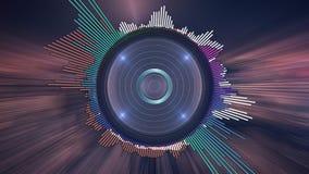 Equalizador de la música de Digitaces foto de archivo libre de regalías