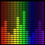 Equalizador de la música del arco iris Imágenes de archivo libres de regalías