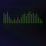 Equalizador de los sonidos Imagen de archivo