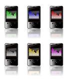 Equalizador do gráfico MP3 Foto de Stock