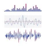 equalizador esquema de las ondas de radio stock de ilustración