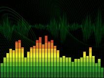 Equalizador gráfico Imagens de Stock