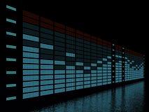 Equalizador gráfico Fotografia de Stock