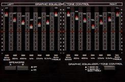 Equalizador gráfico foto de stock