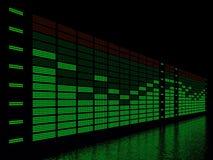 Equalizador gráfico Foto de archivo libre de regalías