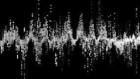 Equalizador HUD de la forma de onda de Digitaces en fondo negro stock de ilustración