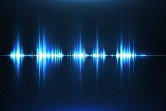 Equalizador musical Onda acústica Radio Ilustración del vector