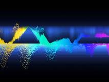 Equalizador que mostra a onda sadia Fundo abstrato da cor da música Conceito do fundo da tecnologia e da ciência ilustração stock