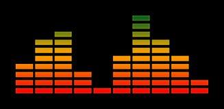 equalizador vermelho, amarelo e verde Foto de Stock