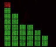Equalizadores gráficos do diodo emissor de luz da música imagens de stock