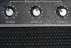 Equalization knobs Royalty Free Stock Photos