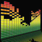 Equalizer. Illustration of the equalizer and its reflection Royalty Free Stock Photo