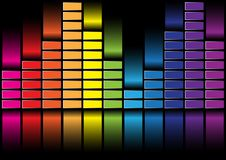 Equalizer. Abstract Background - illustration of Multicolored Equalizer on Black Background / Vector royalty free illustration