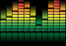 Equalizer. Abstract Background - illustration of Equalizer on Black Background / Vector royalty free illustration