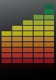 Equalizer. Abstract Background - illustration of Equalizer on Black Background / Vector royalty free illustration