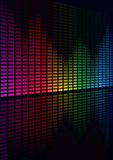 Equalizer. Coloful Graphic Equalizer Display (editable vector enable Stock Photography
