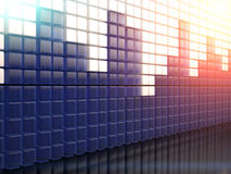 Equalizer. 3D illustration of background with abstract equalizer bar Royalty Free Stock Image
