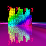 Equalizer and 2012 year. Color equalizer with reflection and 2012 year Stock Illustration