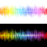 Equalizer. Soundwave  on white and black backgrounds. Vector illustration Royalty Free Stock Photography