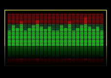Equalizer. Abstract vector illustration of a graphic equalizer Royalty Free Stock Image