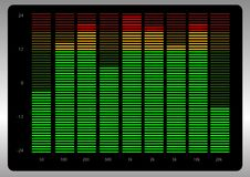 Equalizer. Abstract vector illustration of a graphic equalizer Royalty Free Stock Photography